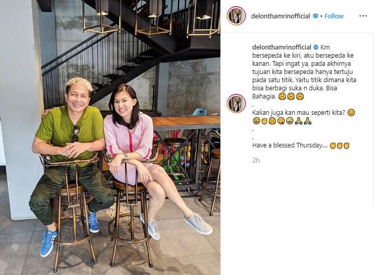 Delon Thamrin dan Aida Noplie. (Instagram/@delonthamrinofficial)